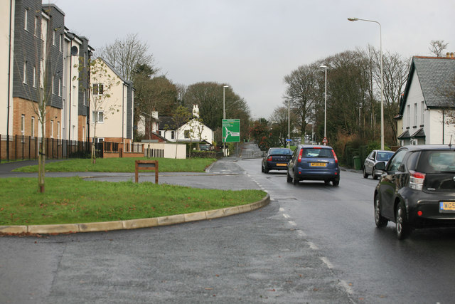 the Busy A386  Woolwell Roundabout