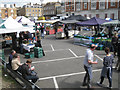 TQ2881 : Sunday market by Aybrook Street W1 by Robin Stott