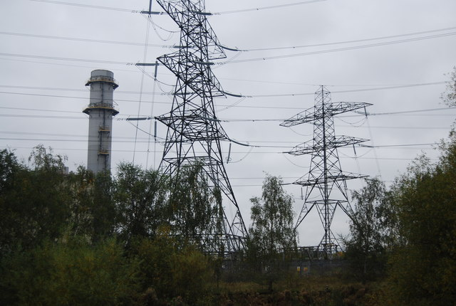Pylons near Enfield Power Station