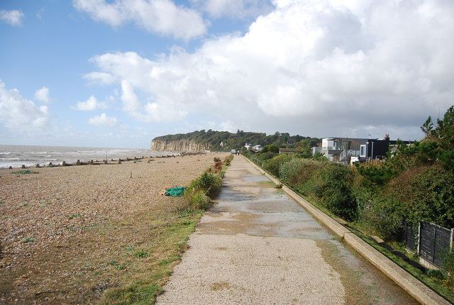 Saxon Shore Way at Cliff End