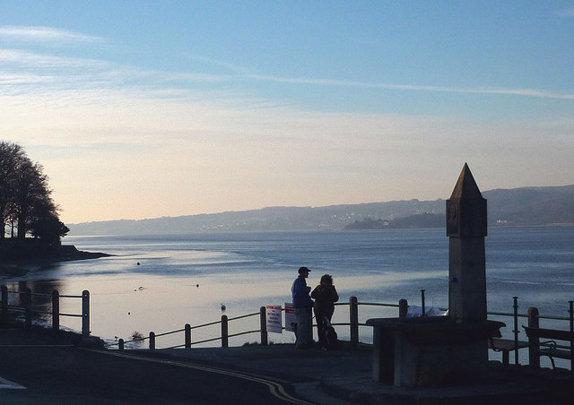 Winter afternoon, Arnside Promenade