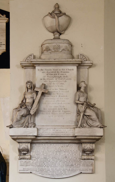 St Mary, Church End, Hendon - Wall monument