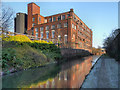 SJ9498 : Whitelands Mill, Huddersfield Narrow Canal by David Dixon