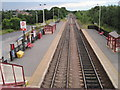 SE4622 : Pontefract Monkhill  railway station, Yorkshire by Nigel Thompson