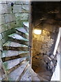 SE6051 : York: spiral staircase in Cliffords Tower by Chris Downer