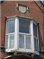 TQ3103 : Date stone and oriel window on the former fire station, Wyndham Street, BN2 by Mike Quinn