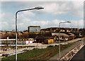 SJ9242 : Longton High School during A50 construction by Chris Beaver