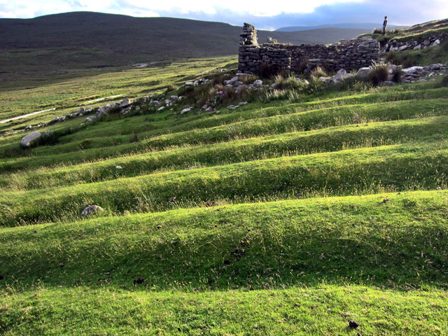 Lazy beds at the Deserted Village, Slievemore