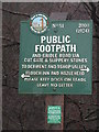 SE1900 : Footpath sign at Langsett  by Dave Pickersgill