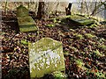 NT9250 : Gravestones at Fishwick Mortuary Chapel by Walter Baxter