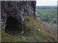 SD9164 : Shelter Cave above Gordale Scar by Karl and Ali
