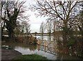 TL4355 : Grantchester: flooded gateway by John Sutton
