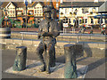SZ0190 : Robert Baden-Powell Statue, Poole Quay by David Dixon