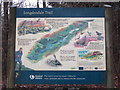 SK0698 : The information board at Torside car park by Ian S