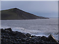 SN5780 : Dusk, Christmas Eve, on Tanybwlch Beach by Nigel Brown