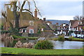 TQ5259 : View across the pond at Otford by David Martin