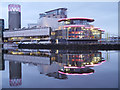 SJ8097 : Salford Quays, Lowry Theatre Complex by David Dixon