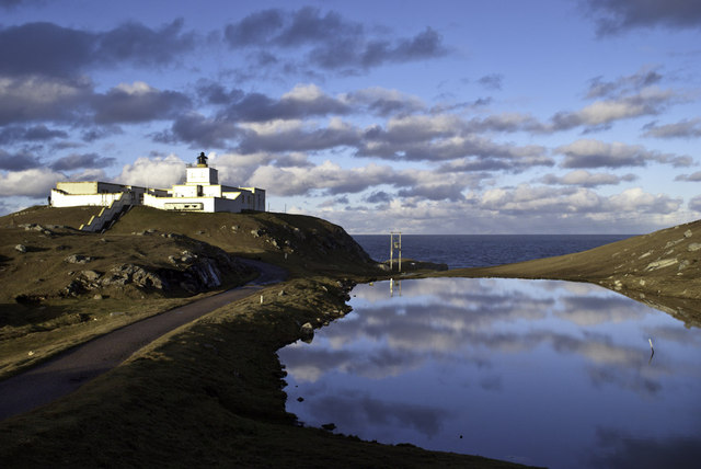Calm day at Strathy Point Lighthouse
