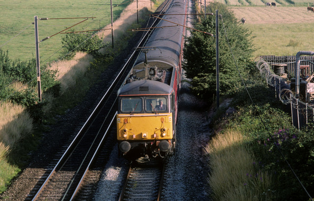 Northbound Express on the West Coast Main Line