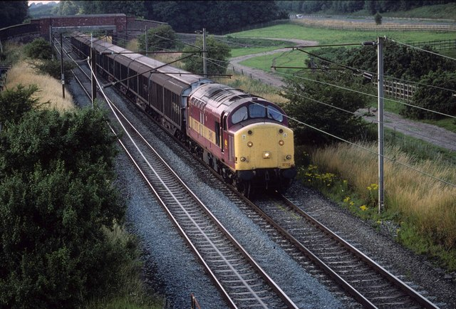 Barrow to Bescot freight on the West Coast Main line