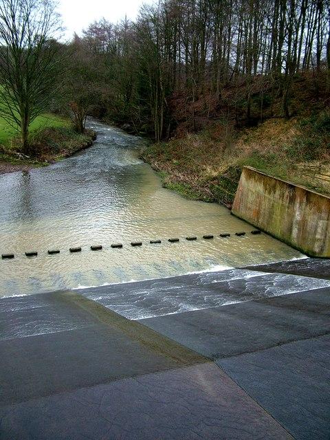 Weir in the River Dearne