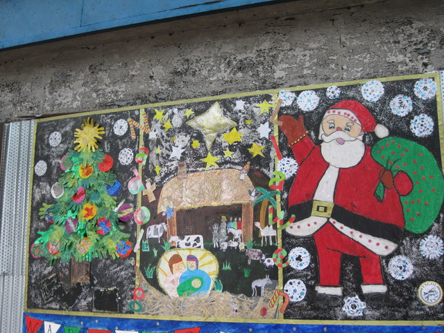 Murluniau Nadolig   Christmas Murals Part 75