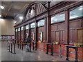 SJ8498 : Manchester Victoria Station Bookiing Hall by David Dixon