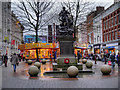 SJ8398 : St Ann's Square, Christmas Fair by David Dixon