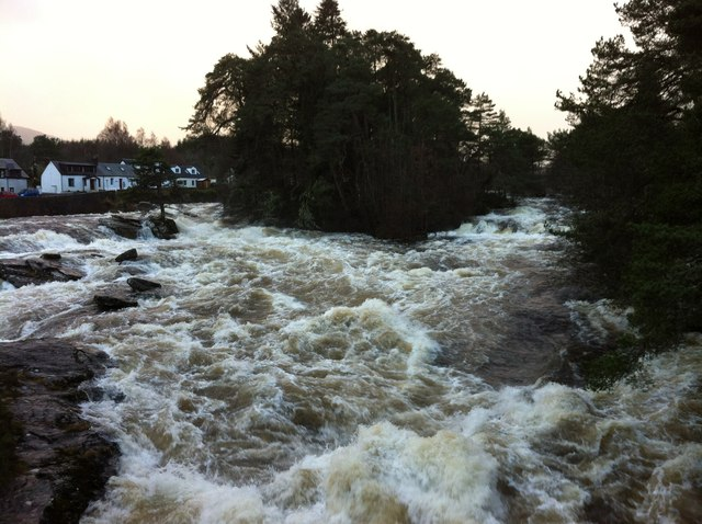 Falls of Dochart in spate