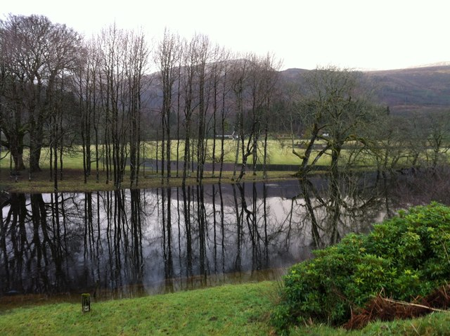 A swollen River Lochay