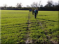 SP7917 : Walkers on the footpath towards Berryfield by Michael Trolove