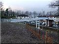NS2071 : Inverkip railway station footbridge by Thomas Nugent