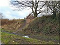 SJ9493 : Former railway embankment by Gerald England
