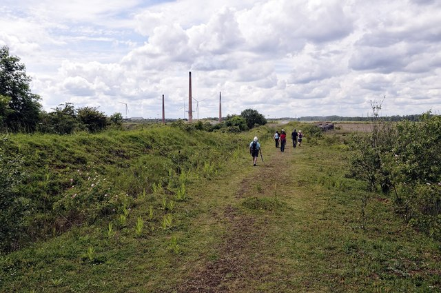 Roman road, King's Dyke Nature Reserve