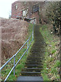 SK4770 : Steps up to town, Bolsover by Andrew Hill
