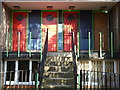 TQ3177 : Housing doors, Brixton Road SW9 by R Sones