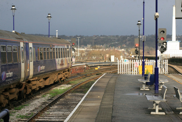 Huddersfield station winter sun