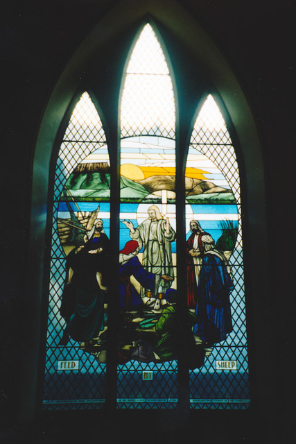 stained glass window at st john u0026 39 s     u00a9 elaine champion