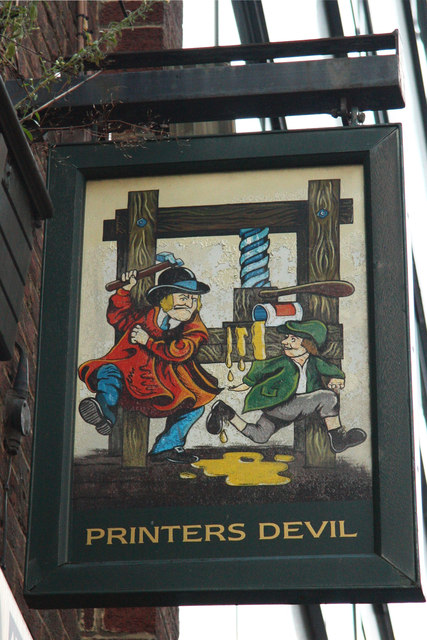 Printers Devil sign