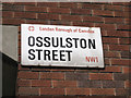TQ2983 : Street nameplate mounted on dark red brick by Robin Stott