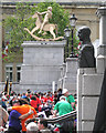 TQ2980 : Boy on a rocking horse, Fourth Plinth 2012 by Robin Stott