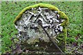 NT1646 : Blacksmith's headstone, Newlands Old Kirk by Jim Barton