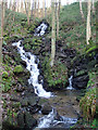 SK2666 : Waterfall, Smeltingmill Brook by Andrew Hill