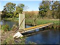 SP1305 : Private footbridge over River Coln, east of Ash Copse near Coln St Aldwyns by Colin Park