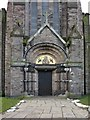 SJ5095 : St Mary's, Lowe House RC Church, Doorway by Alexander P Kapp