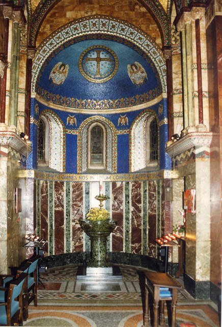 Chapel of the Middlesex Hospital, Mortimer Street - Baptistery
