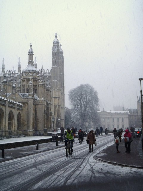 Snow on King's Parade