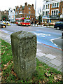 TQ2874 : Milestone on Clapham Common (2) by Stephen Craven