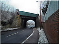 SE4622 : Railway Bridge crossing Ferrybridge Road Pontefract by derek dye