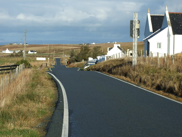 Approaching Kilvaxter on the A855 at Balgown